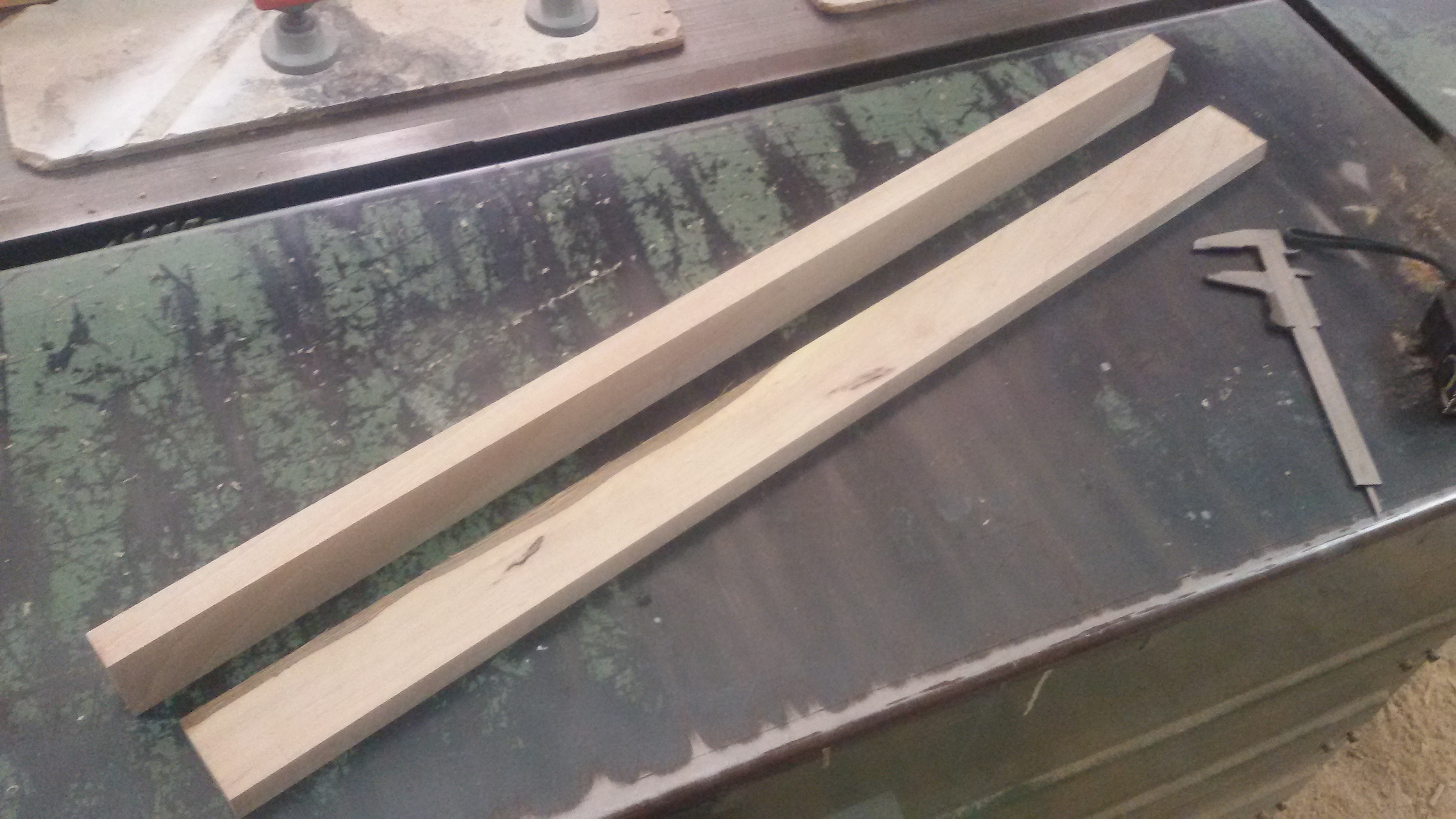 """Picture of Cutting Hard Wood for the """"frame"""""""
