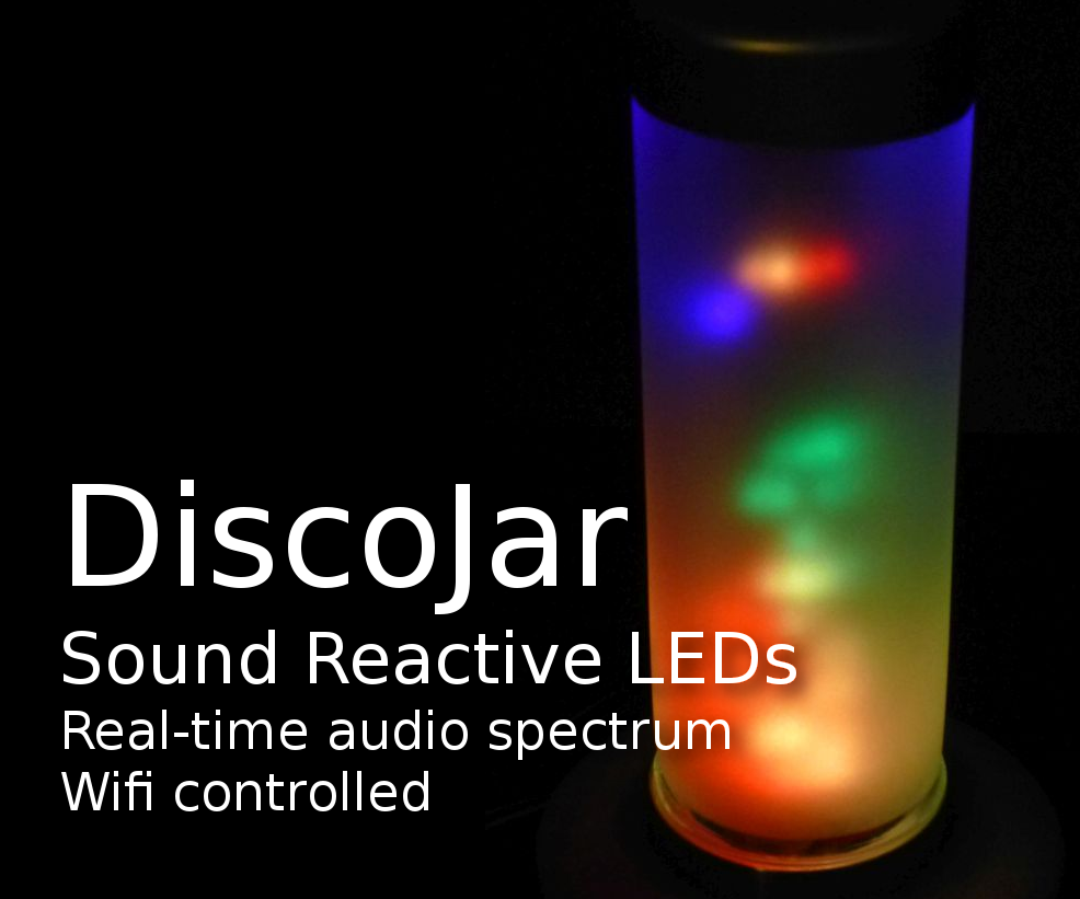 DiscoJar: Sound Reactive Lamp With 288 RGB LEDs: 6 Steps (with Pictures)