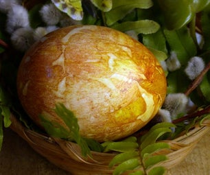Easter Eggs Dyed With Onion Skins