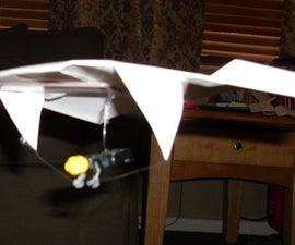 Paper hang-glider for a LEGO man