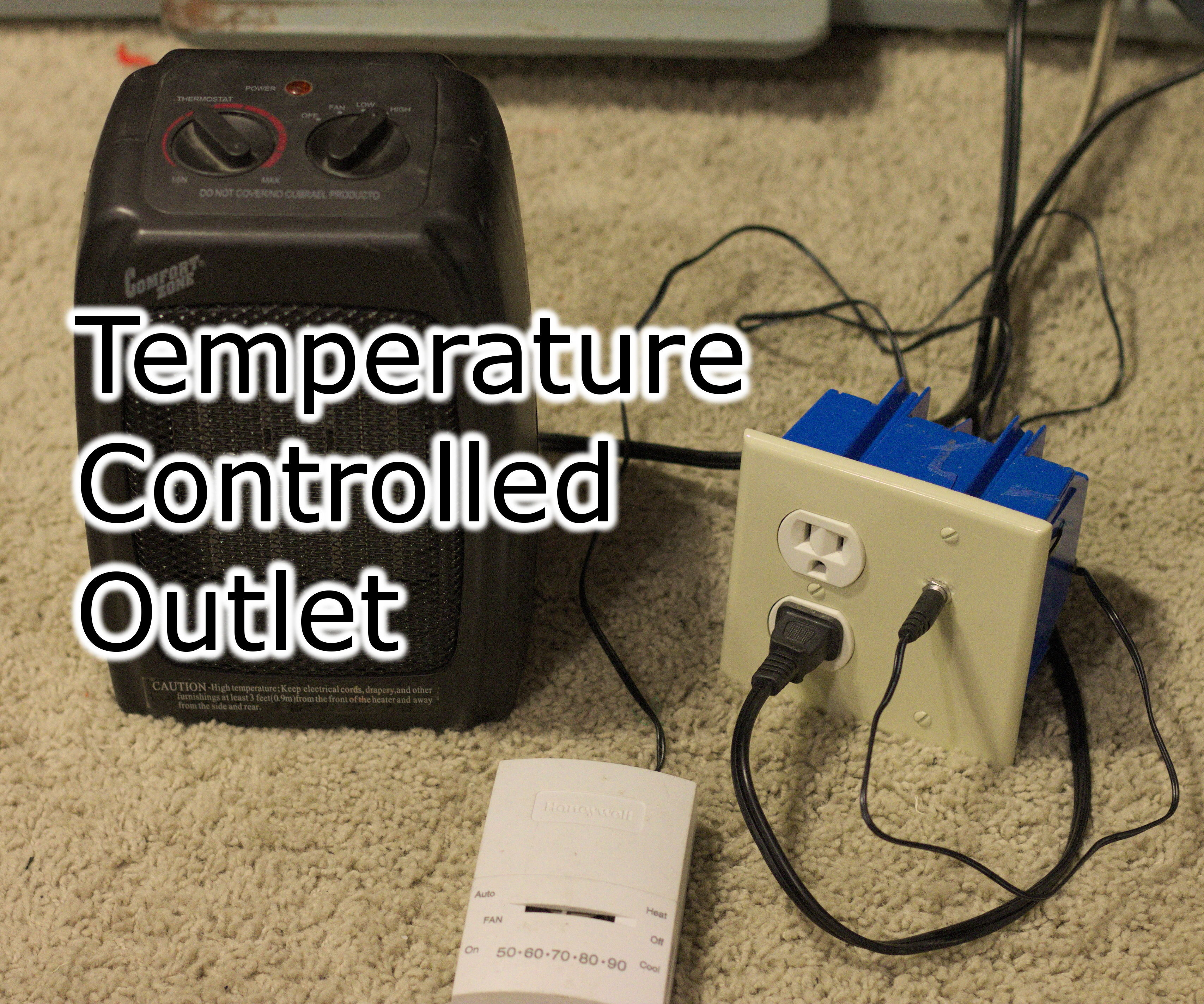 Wiring A Thermostat To An Outlet Diagram Essig House Power Controlled 9 Steps With Pictures Diagrams