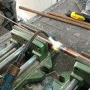 Brazing a Copper Pipe Lamp
