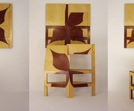Facet Chair- Double-bevel laser marquetry