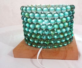 Table Lamp Of Marbles DIY