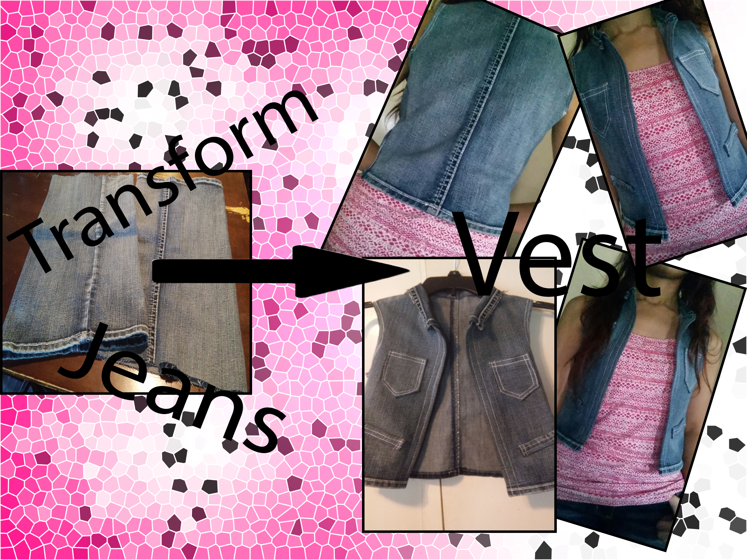 Picture of TRANSFORM Old Jeans Into a VEST!