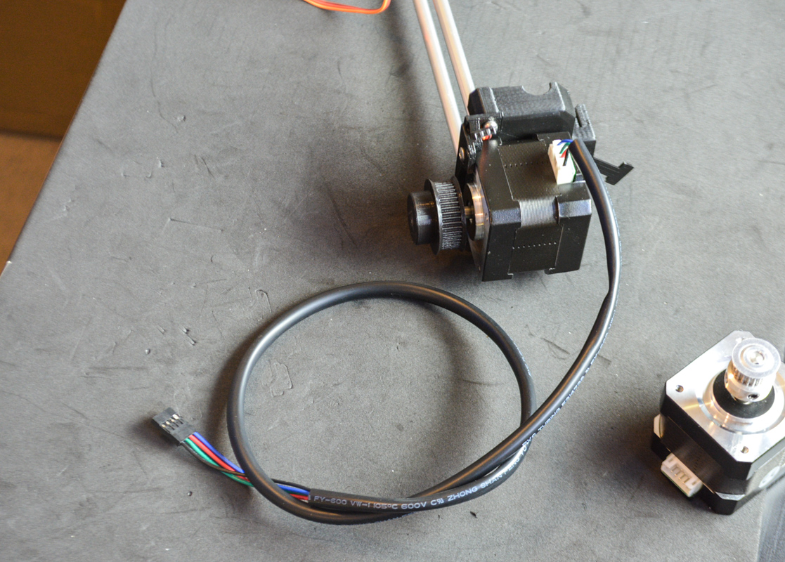 Picture of Connect the Motor Cable And....pulleys