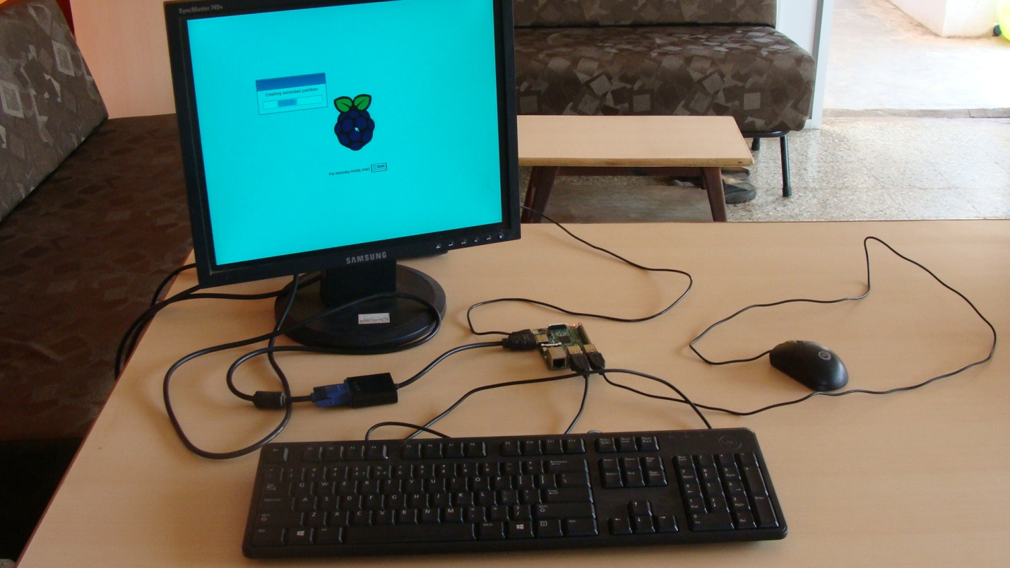 Picture of Booting Proccess of OS Into Raspberry Pi