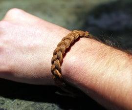 braided leather bracelet DIY