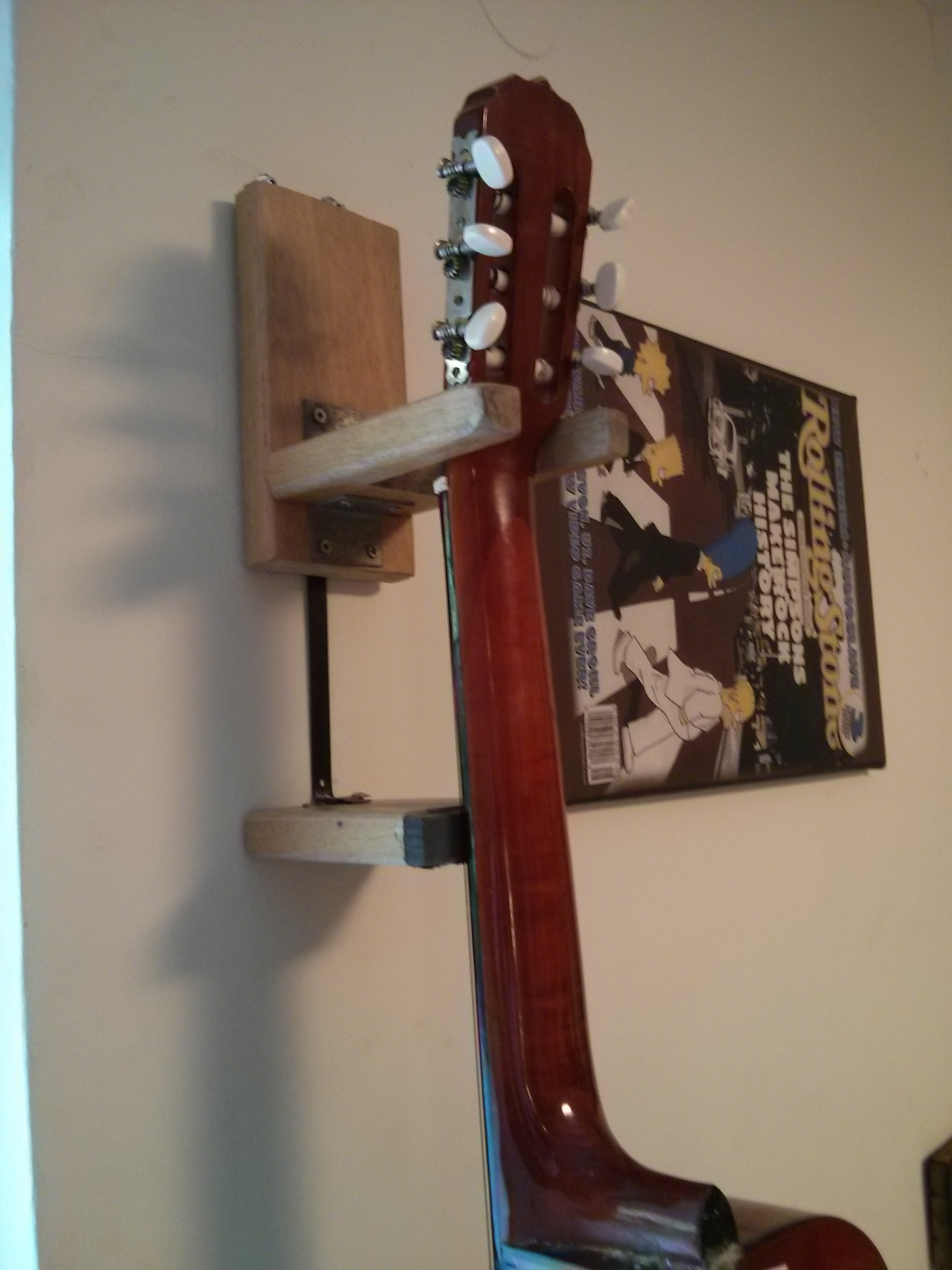 Picture of DIY Guitar Wall Hanger From Wood