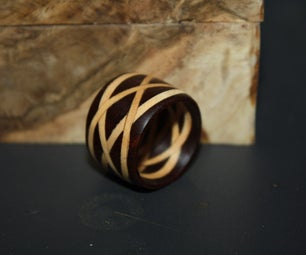 Laminated Celtic Knot Wooden Ring