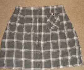 Flannel shirt to great warm skirt