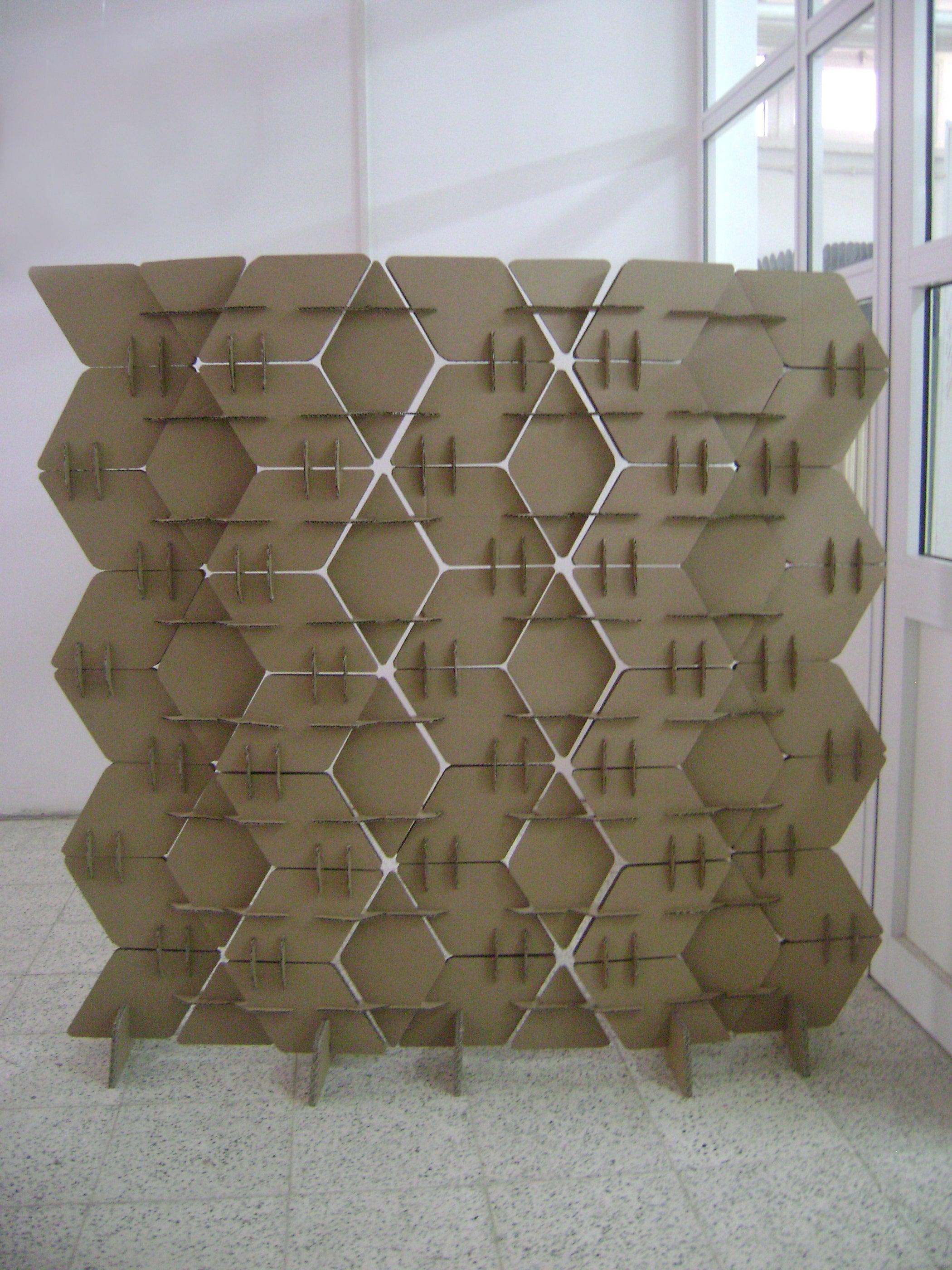Cardboard Room Divider 6 Steps with