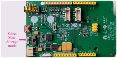 Picture of Put Key File Into Storage of LinkIt ONE