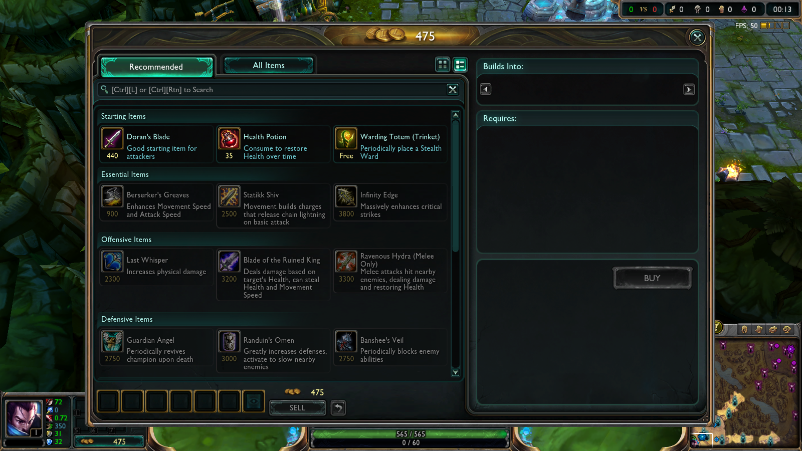 Picture of Buying Wards From the Store