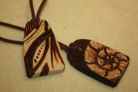 Woodburned Pendants