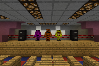 Showcase Freddy Fazbear S Pizza Replica In Minecraft 13 Steps Instructables
