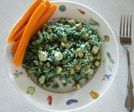 "Tasty & Easy to make ""Green Rice"" with Spirulina"