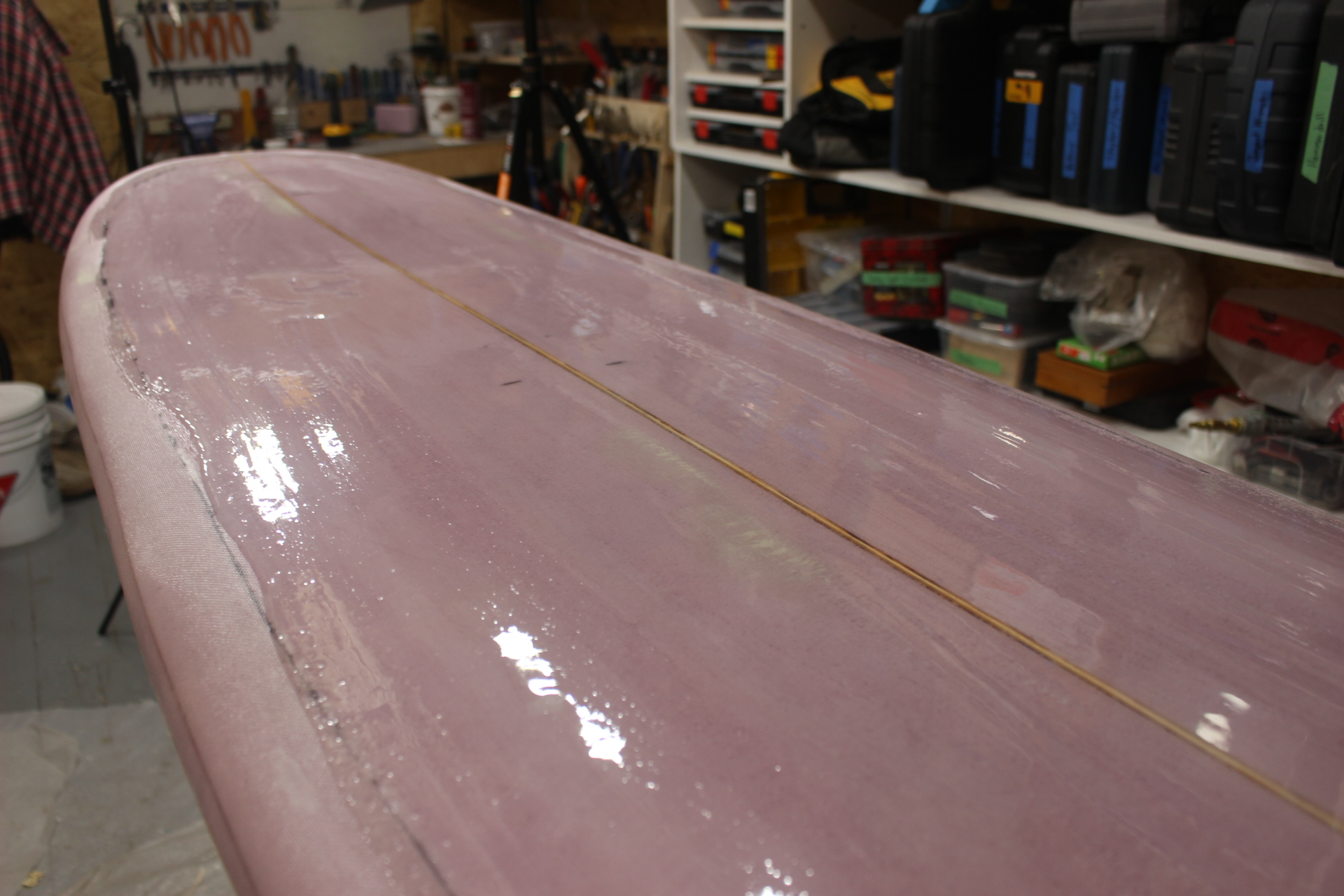 Picture of Hotcoating the Surfboard
