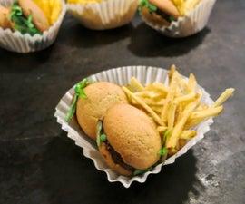 Hamburgers & Fries Sweet Treat for Kids' Parties, Picnics, Reunions & More