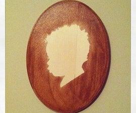 Custom Wood Stained Stencil Keepsake