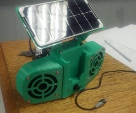 Solar Powered Boombox (3D Printed)