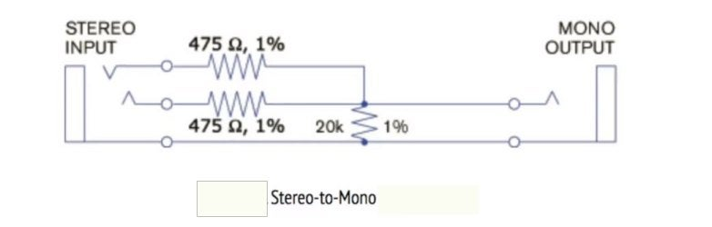 Mixing Bluetooth Module Output Stereo to Mono