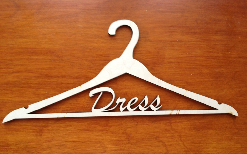 Picture of Custom Wood Clothing Hangers