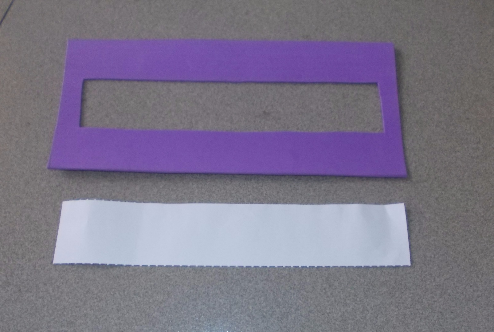 Picture of Cut the Small Rectangle Inside to Glue the Glass Paper Later.