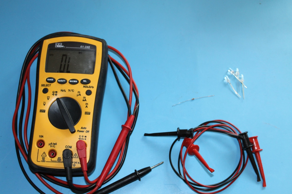 Picture of Testing LEDs With a Multimeter