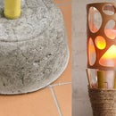 Concrete Tiki-Torch Lamp