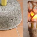 Concrete Tiki-Torch Lamp