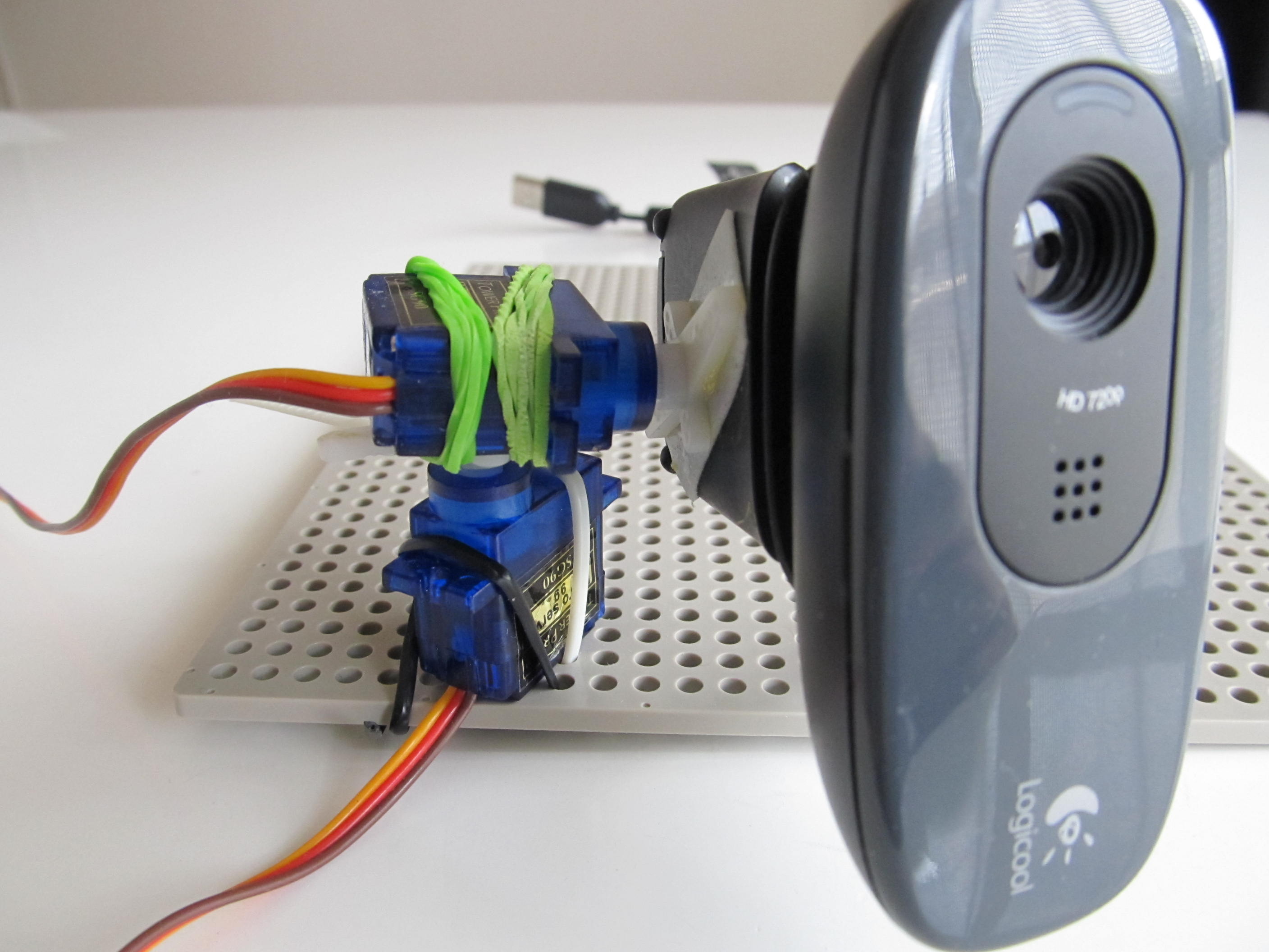 Picture of Get 2-axis Platform Camera With C270 and Servos