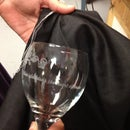 laser etching a wine glass