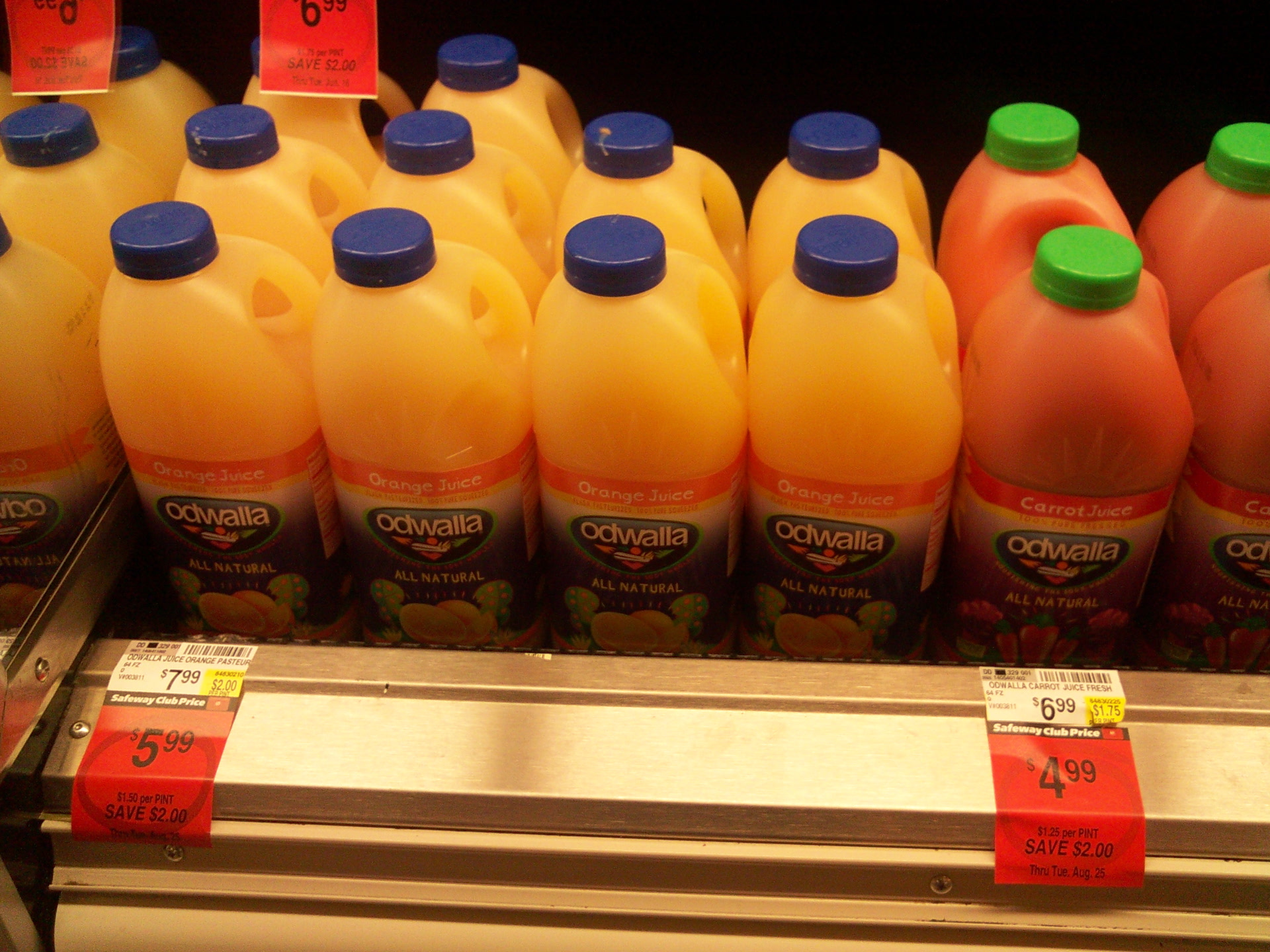 Picture of Odwalla: $10.00 / Gal