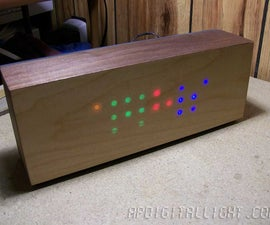 Wooden LED clock