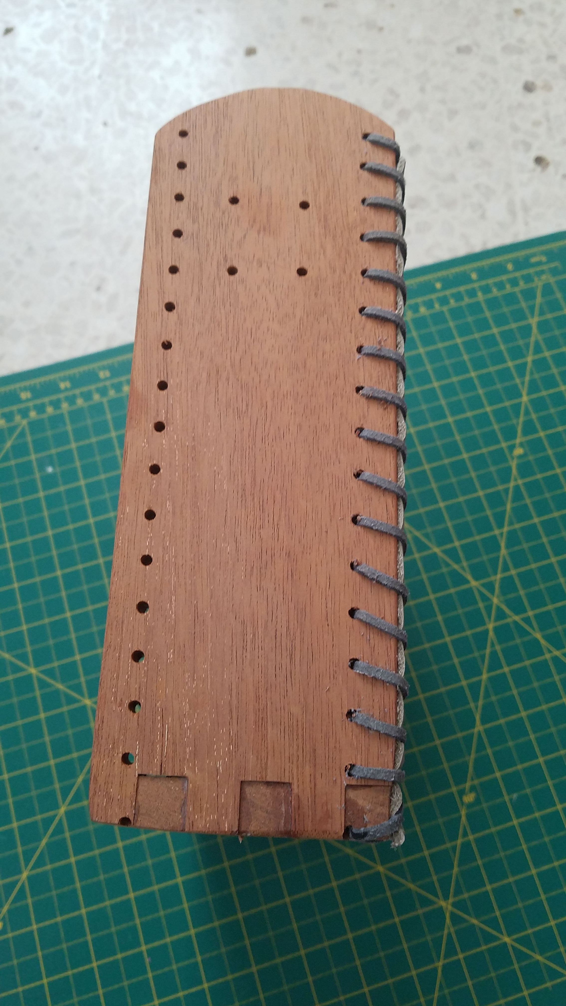Picture of Cut, Drill the Wood and Prepare the Leather