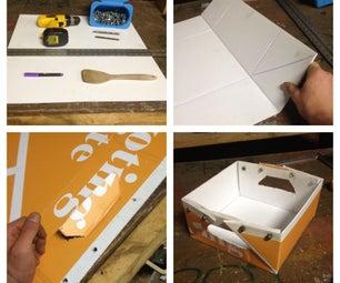 Recycled Coroplast Storage Box