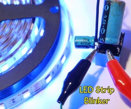 LED Strip Blinker Circuit Using 12V Relay