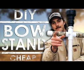 DIY PVC Bow Stand - Cheap and Easy