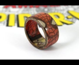 Superhero Ring Made With Comic Books - Spiderman Ring