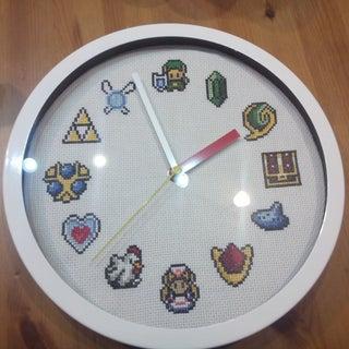Boo O'Clock - How to Cross-Stitch a Custom Clock Face