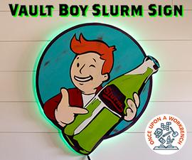 Vault Boy Slurm Sign
