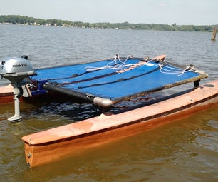 Convert a Hobie Cat From Sail to Power (Cheap Pontoon Boat)