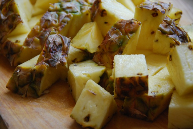 Picture of Preparing the Pineapples / Ingredients