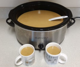Pumpkin Coffee in a Crock Pot
