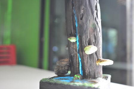 Glow in the Dark Stump Lamp