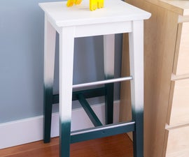 Ombre Painted Stool