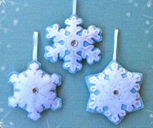 Felt Snowflake Ornaments