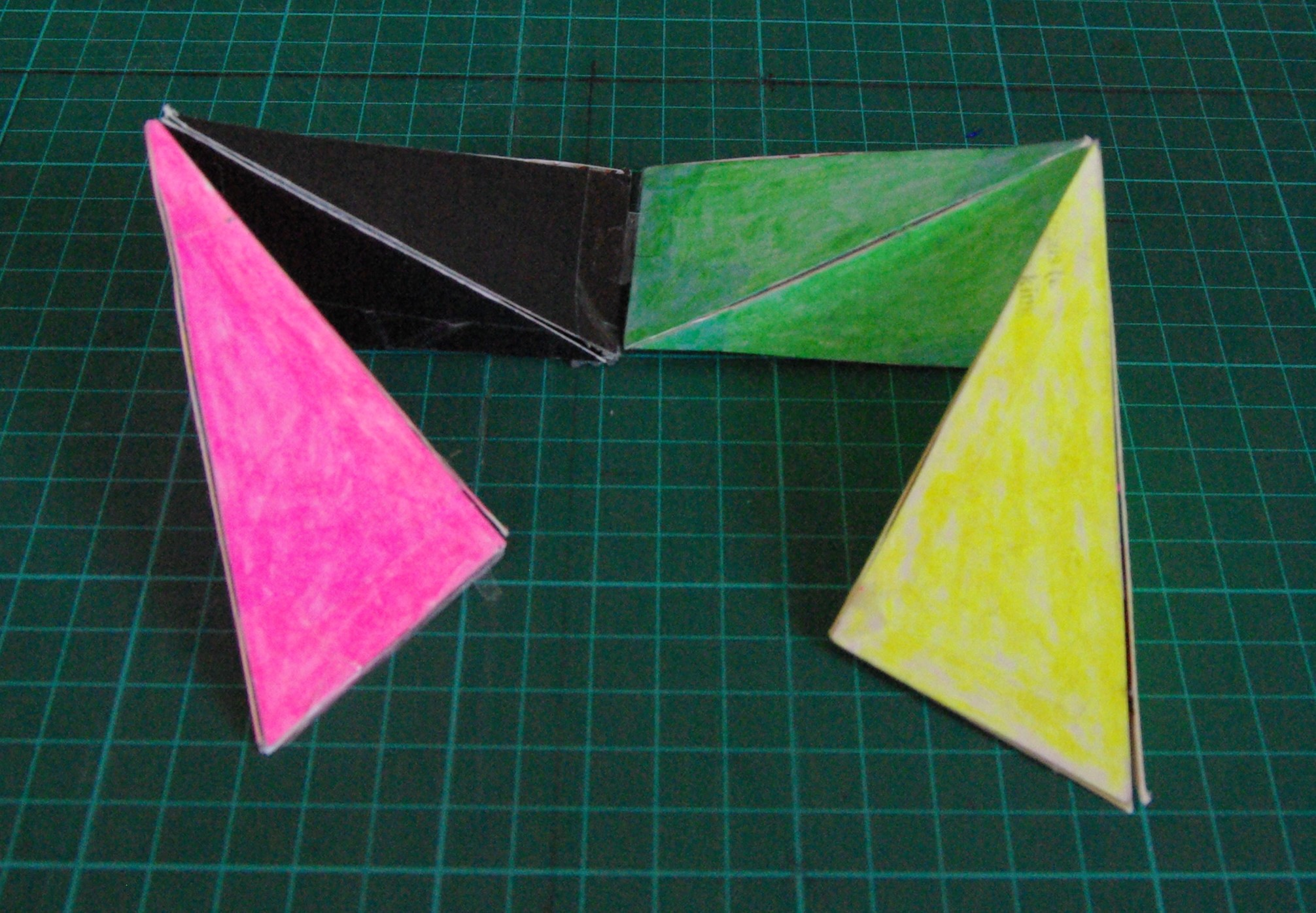 Picture of Opening and Closing the Regular Tetrahedron