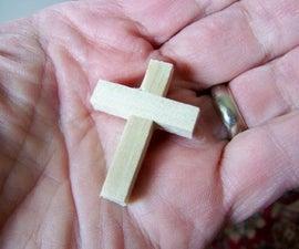 """Making """"Cross in My Pocket"""" Crosses for Homeless Kits"""